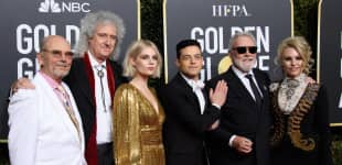 """The cast of """"Bohemian Rhapsody"""" at the 76th Golden Globes"""
