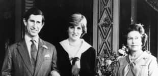 Queen Elizabeth II, Prince Charles and Lady Diana