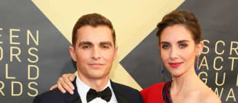 Dave Franco and Alison Brie arrive for the 24th Annual Screen Actors Guild Awards at the Shrine Exposition Center on January 21, 2018, in Los Angeles, California