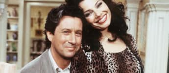 """Charles Shaughnessy an Fran Drescher in """"The Nanny"""""""