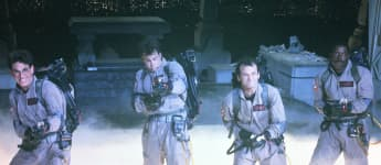 Ernie Hudson, Dan Akryod, Bill Murray and Harold Ramis in 'Ghostbusters'