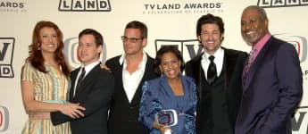 "Actors Kate Walsh, T.R. Knight, Justin Chambers, Chandra Wilson, Patrick Dempsey and James Pickens Jr. of ""Grey's Anatomy"", winner of the Future Classic Award in Santa Monica, 2006."