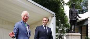 Prince Charles & Camilla Hosted Emmanuel Macron In London Today: Pictures Here!