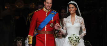 Prince William and Duchess Catherine at their wedding