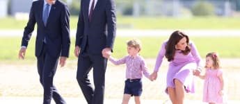 Prince George, Princess Charlotte, Duchess Catherine and Prince William