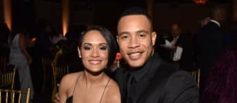 Grace and Trai Byers attend BET Presents the American Black Film Festival Honors on February 17, 2017 in Beverly Hills, California.