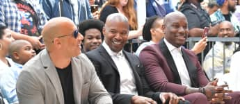 Vin Diesel, Jamie Foxx and Tyrese Gibson attend director F. Gary Gray being honored with star on The Hollywood Walk of Fame on May 28, 2019 in Hollywood, California
