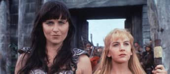 Lucy Lawless and Renee O'Connor in 'Xena: Warrior Princess'
