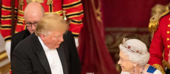 Donald Trump and Queen Elizabeth II State Banquet Buckingham Palaca POTUS' State Visit.