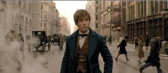 Eddie Redmayne in a scene from the movie 'Fantastic beasts and where to find them'