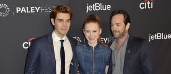 K.J. Apa, Madelaine Petsch and Luke Perry