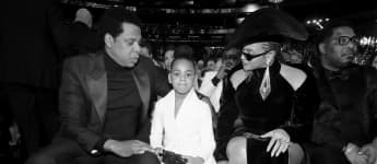 Jay-Z, Blue Ivy and Beyoncé