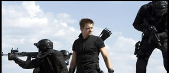 "Jeremy Renner as ""Clint 'Hawkeye' Barton"" in the 2012 blockbuster The Avengers."