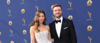 Justin Timberlake and Jessica Biel at the Emmys