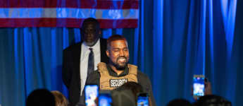 Kanye West at his first Presidential campaign event on Sunday, July 19, 2020, in North Charleston, South Carolina.