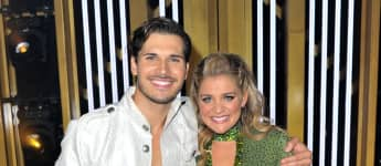 """Gleb Savchenko and Lauren Alaina attend the """"Dancing With The Stars"""" Season 28 show at CBS Television City on September 16, 2019"""