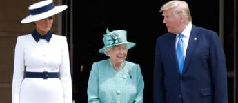 Melania Trump, Queen Elizabeth II and President Donald Trump State Visit Buckingham Palace