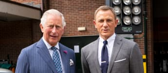 Prince Charles and Daniel Craig Bond 25 Set Pinewood Studios 2019