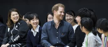 Prince Harry gets called handsome by school children in Japan and this is how he responded...