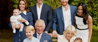 Prince Charles, the Duchess of Cornwall, his sons, daughters-in-law and grandchildren pose for his 70th birthday portrait
