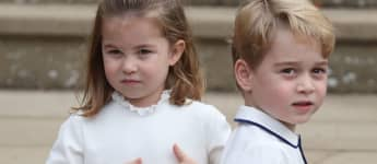Princess Charlotte and Prince George St. George's Chapel Windsor Eugenie Wedding