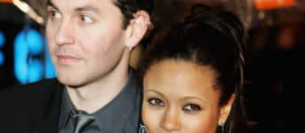 Actress Thandie Newton and husband Ol Parker arrive at BAFTAs on February 19, 2006 in London, England.