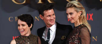 Claire Foy, Matt Smith and Vanessa Kirby attending the season two premiere of 'The Crown' in London, 2017