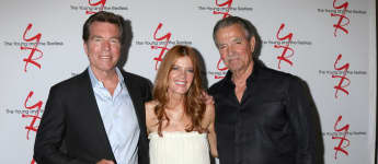 The Young and the Restless Peter Bergman, Michelle Stafford and Eric Braeden