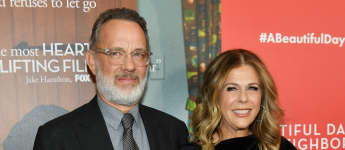 """Tom Hanks says that his role of """"Mister Rogers"""" helped him keep his marriage to Rita Wilson strong"""