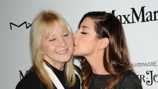 Actress Gia Mantegna (R) and mother Arlene Vrhel attend the 6th annual Women In Film pre-Oscar cocktail party at Fig & Olive Melrose Place on February 22, 2013 in West Hollywood, California