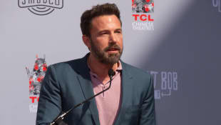 Ben Affleck attends Kevin Smith and Jason Mewes Hands and Footprint Ceremony on October 14, 2019 in Hollywood, California