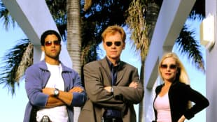 """CSI  stars Adam Rodriguez, David Caruso and Emily Procter"