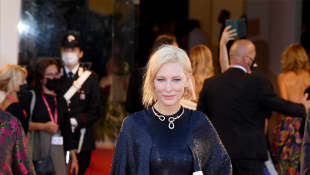 "Jury President Cate Blanchett walks the red carpet ahead of the Opening Ceremony and the ""Lacci"" red carpet during the 77th Venice Film Festival."