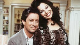 "Charles Shaughnessy an Fran Drescher in ""The Nanny"""