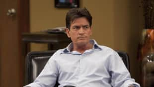 "Charlie Sheen as ""Charlie Harper"" in ""Two And A Half Men"""