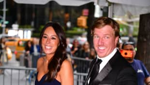 Joanna Gaines and Chip Gaines seen in Columbus Circle on their way to the 2019 Time 100 Gala on April 23, 2019 in New York City