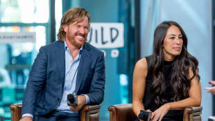 "Chip and Joanna Gaines discuss ""Capital Gaines: Smart Things I Learned Doing Stupid Stuff"" and the ending of the show ""Fixer Upper"" with the Build Series at Build Studio on October 18, 2017 in New York City"