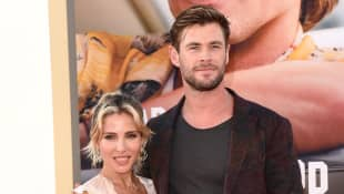 "Elsa Pataky and Chris Hemsworth attend Sony Pictures' ""Once Upon a Time ... in Hollywood"" Los Angeles Premiere on July 22, 2019 in Hollywood, California."