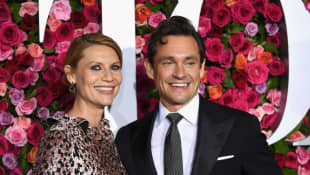 Claire Danes and Hugh Dancy attend the 72nd Annual Tony Awards at Radio City Music Hall on June 10, 2018 in New York City