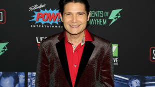 """Corey Feldman arrives for """"Excelsior! A Celebration of The Amazing, Fantastic, Incredible and Uncanny Life Of Stan Lee"""" at TCL Chinese Theatre on January 30, 2019 in Hollywood, California"""