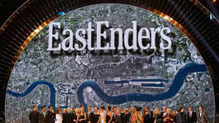 The cast of Eastenders accept the Serial Drama award at the 21st National Television Awards at The O2 Arena on January 20, 2016 in London, England