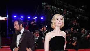 "Elle Fanning arrives for the ""The Roads Not Taken"" premiere."