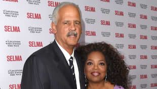 Oprah Winfrey and Stedman Graham at the 'Selma' and the Legends Who Paved the Way Gala in Goleta California, 2014.