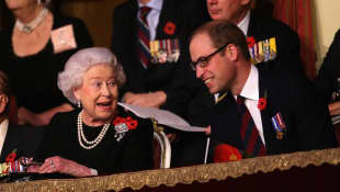 Queen Elizabeth II and Prince William