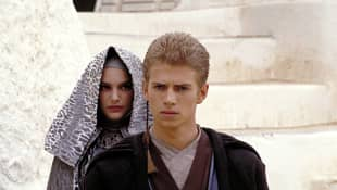 "Natalie Portman and Hayden Christensen in ""Star Wars"""
