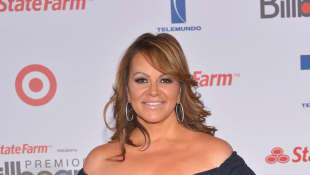 Jenni Rivera arrives at the Billboard Latin Music Awards 2012 at Bank United Center on April 26, 2012 in Miami, Florida