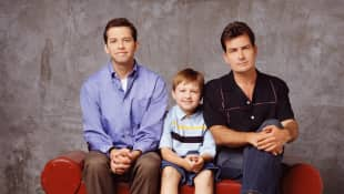 'Two and a Half Men' Cast: Jon Cryer, Angus T. Jones and Charlie Sheen.