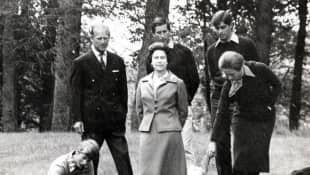 Queen Elizabeth II, Prince Philip and their children