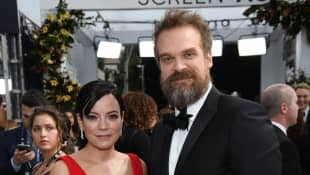 Lily Allen And David Harbour Tie The Knot In An Elvis Themed Las Vegas Wedding! See The Pics Here!