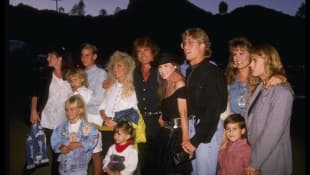 Michael Landon and family